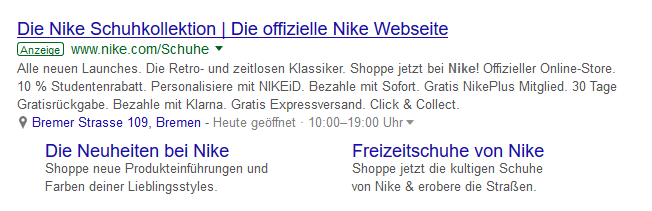 Google Ad in den SERPs