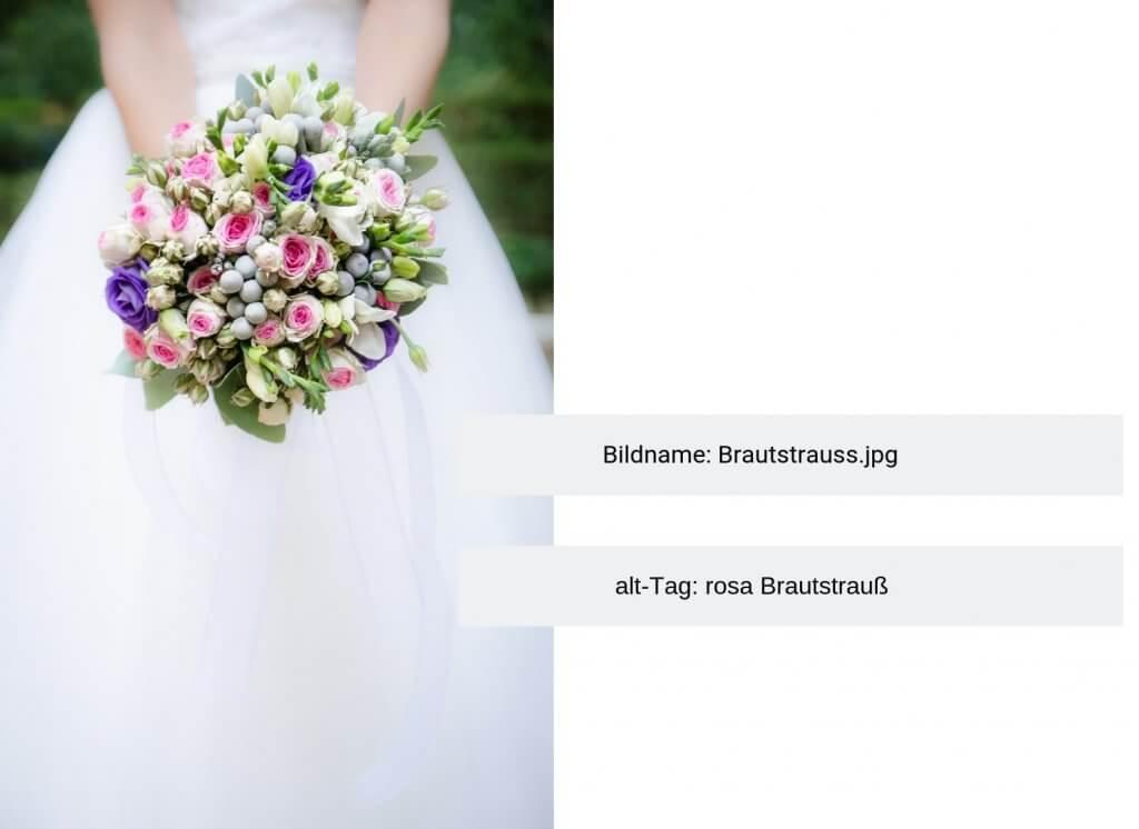 Für SEO-optimierte Bilder brauchst du einen aussagekräftigen Namen und ein alt-Tag