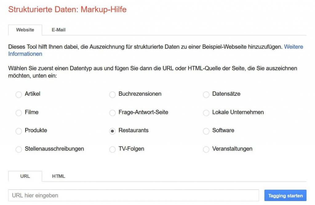Mit der Google Markup-Hilfe kannst du deinem lokalen Unternehmen ganz einfach strukturierte Daten hinzufügen