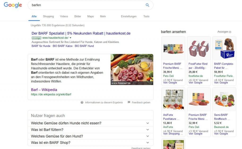 Keywords sind die Begriffe, nach denen ein User bei Google sucht
