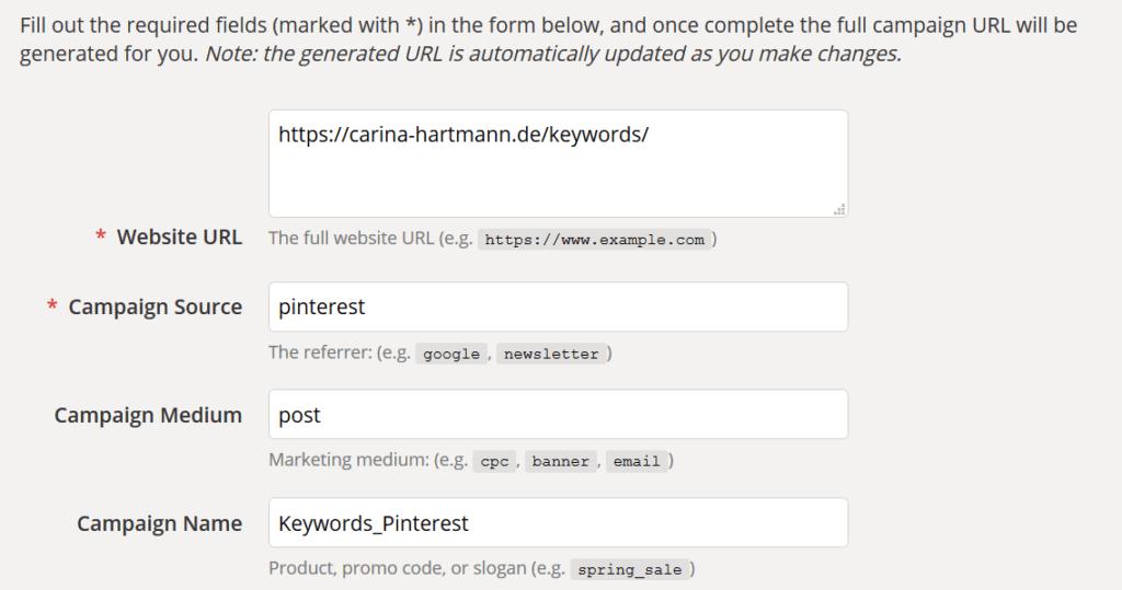 Google Campaign URL Builder erleichtert die Analytics