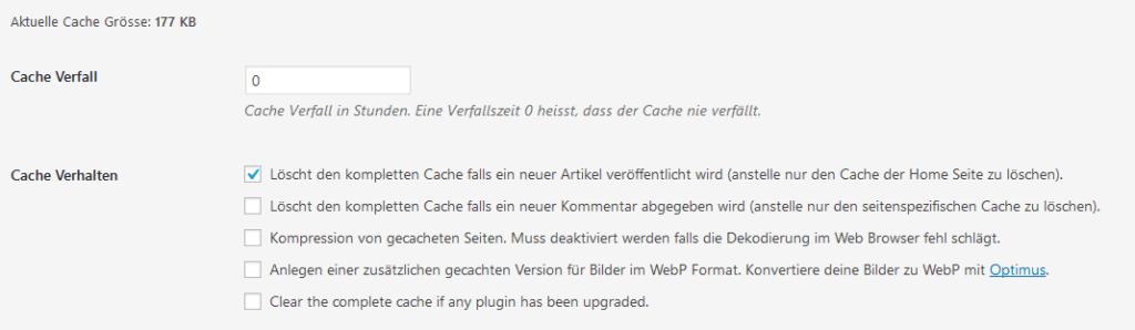 Der Cache Enabler erlaubt das Page Caching
