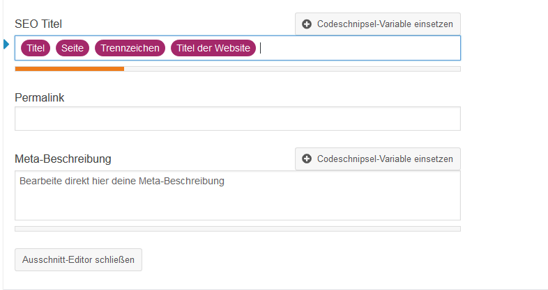 Meta Description mit Yoast