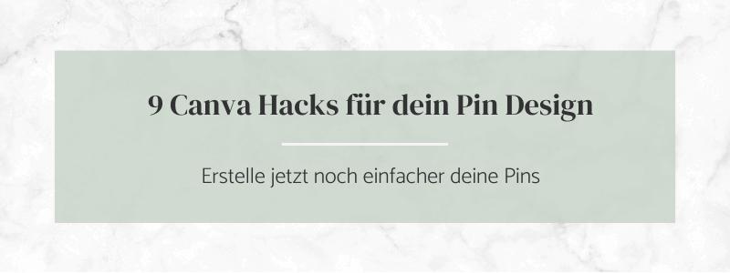 9 Canva Hack für deine Pin Designs