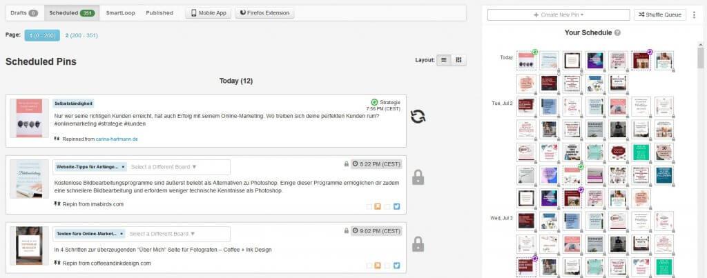 Tailwind ist ein Social Media Tool zur Pinplanung auf Pinterest