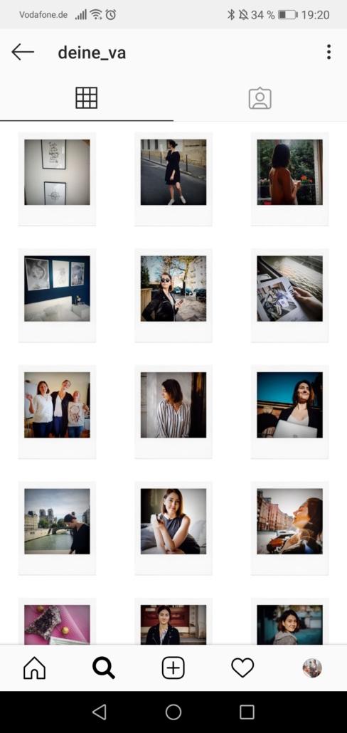 Instagram Rahmen Feed
