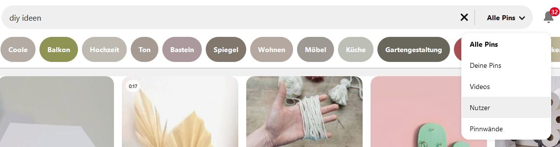 Pinterest Suche Nutzer - Guided Search