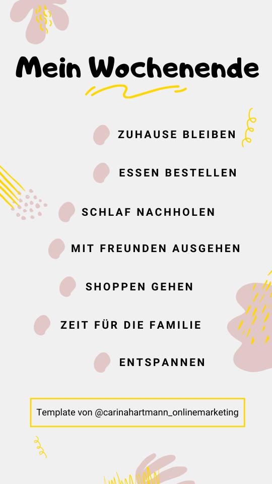 Story Template - Ankreuzen