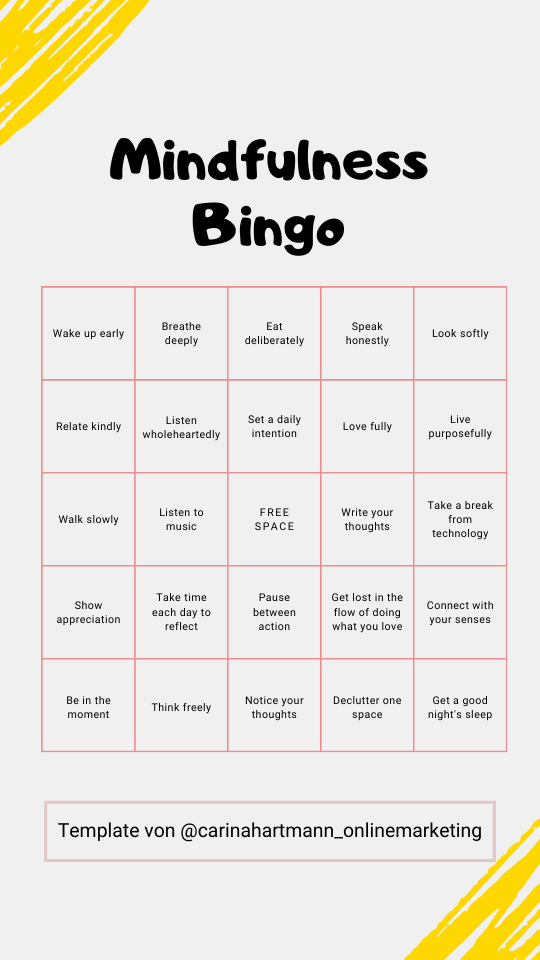 Story Template - Bingo