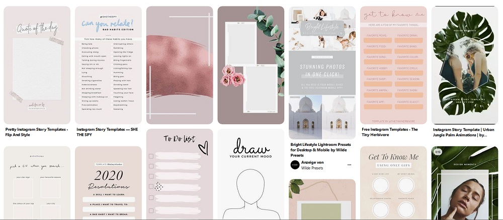 Story Templates Inspiration aufPinterest