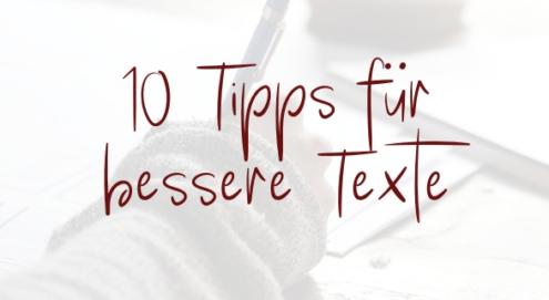 Tipps für bessere Texte