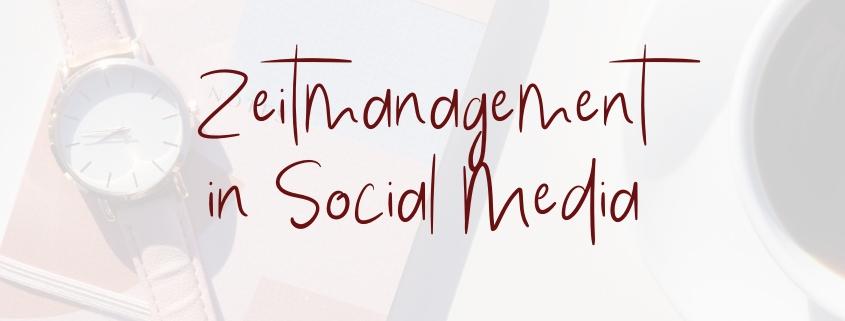 Zeitmanagement Social Media