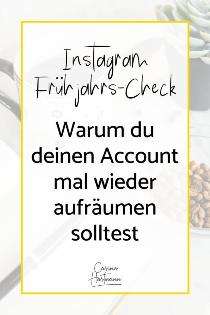 Instagram Frühjahrscheck