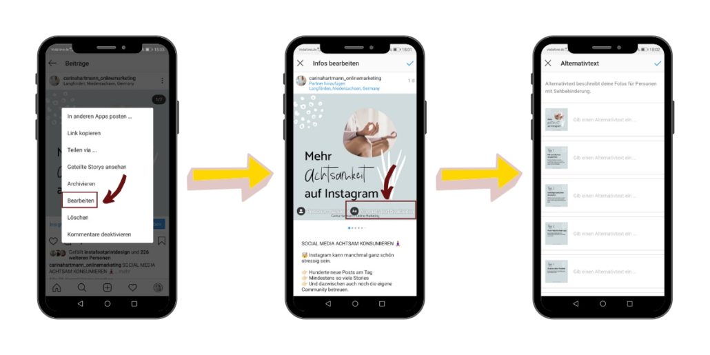 Instagram SEO - Alternativtext