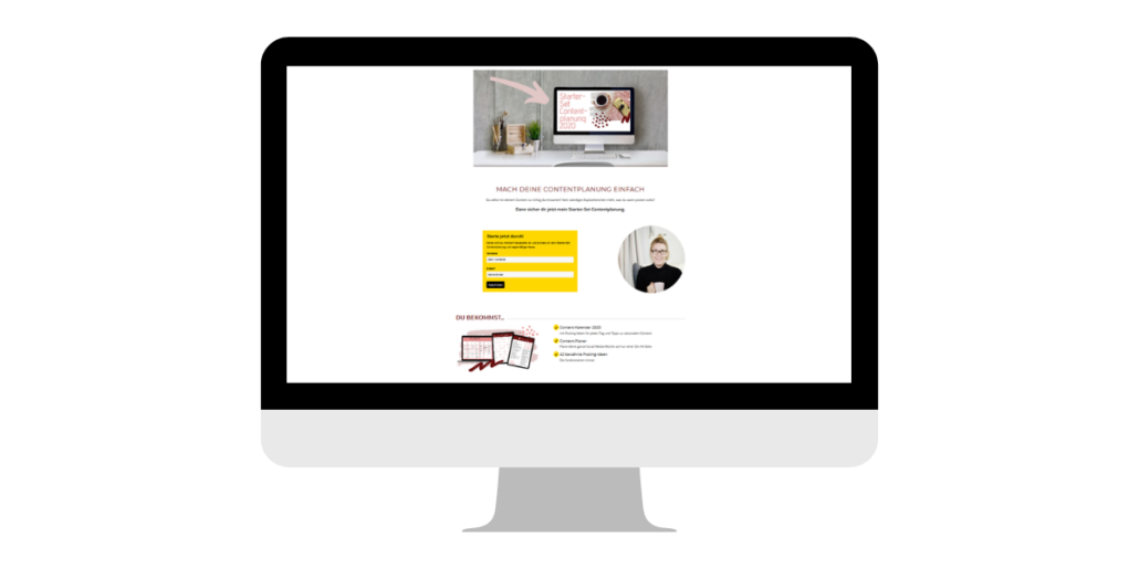 Landingpage Newsletter
