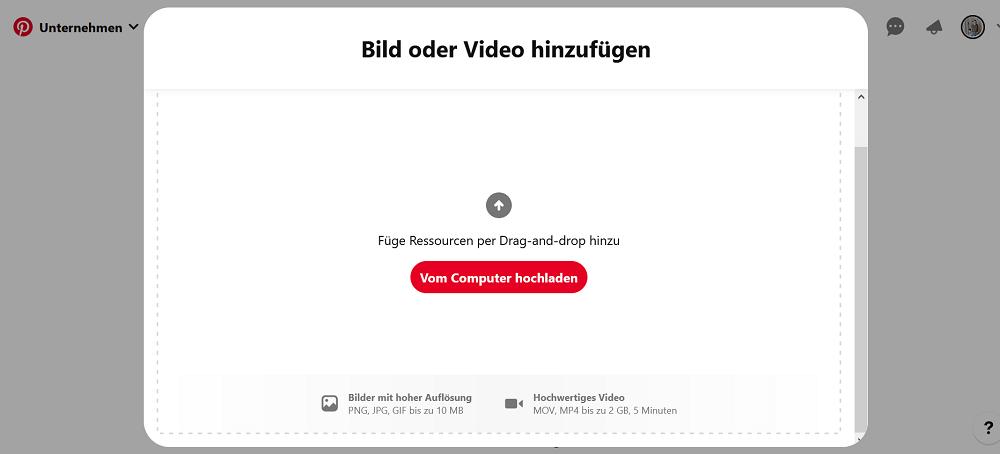 Beim Profilcover kannst du zwischen Bild und Video wählen