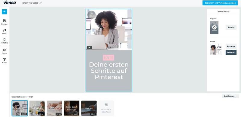 Mit Vimeo Create kannst du ruckzuck eigene Video Pins erstellen