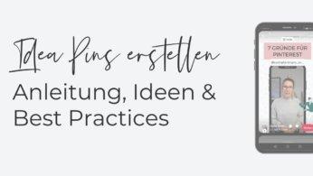 Idea Pins Anleitung Pinterest