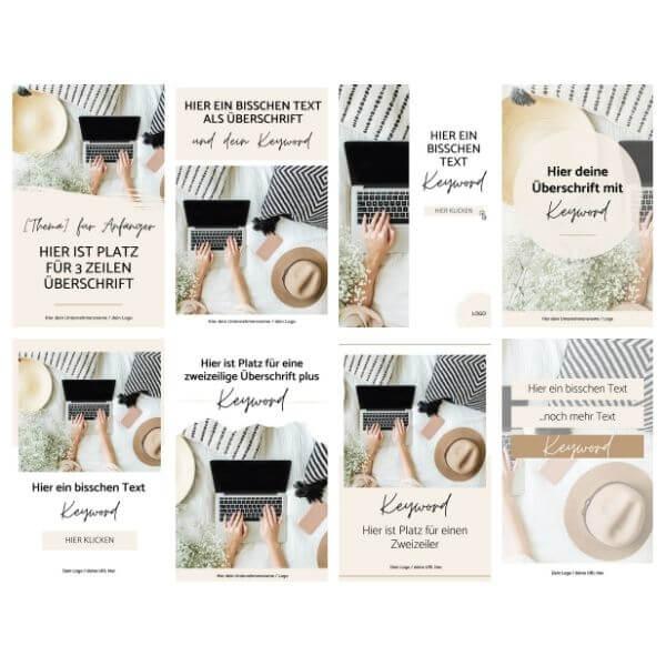 Pinterest Pins erstellen - Vorlagen