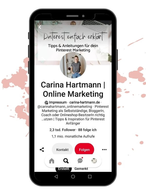Pinterest Account - Carina Hartmann