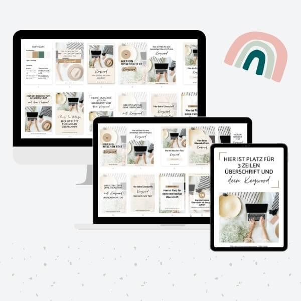 Pinterest Pin Vorlagen für Canva