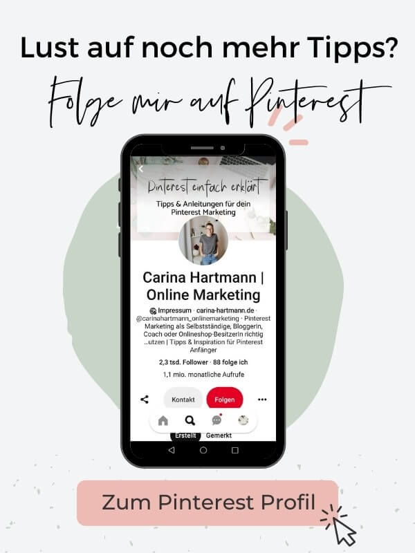 Pinterest Account - Carina Hartmann
