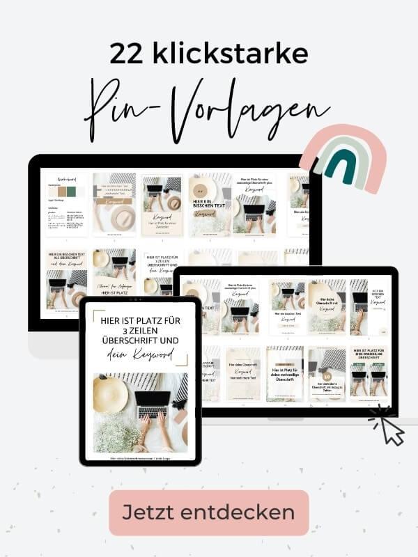 Pinterest Pin-Vorlagen für Canva